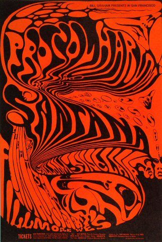 Procol Harum Poster - Rock posters, concert posters, and vintage posters from the Fillmore, Fillmore East, Winterland, Grande Ballroom, Armadillo World Headquarters, The Ark, The Bank, Kaleidoscope Club, Shrine Auditorium and Avalon Ballroom.