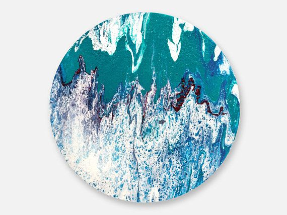 Round painting original abstract painting on canvas original