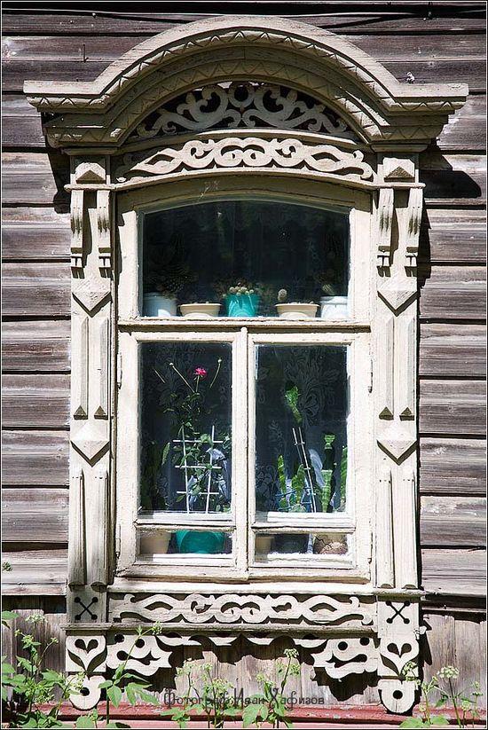 Fancy Window Frame Russian Windows And Wooden