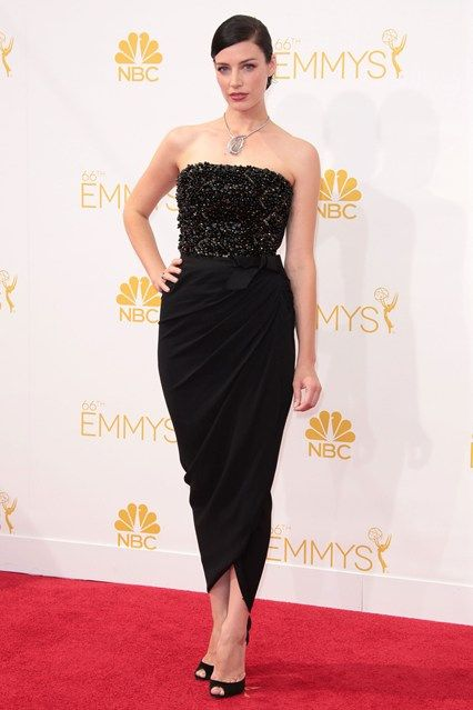 Jessica Pare wore a dress by Lanvin with Christian Louboutin heels and Fred Leighton jewellery.