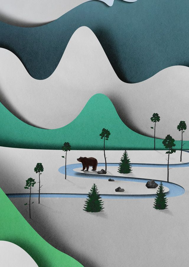 Amazing 3D Illustrations Look Like Layers of Paper by Illustrator, graphic designer and art director Eiko Ojala