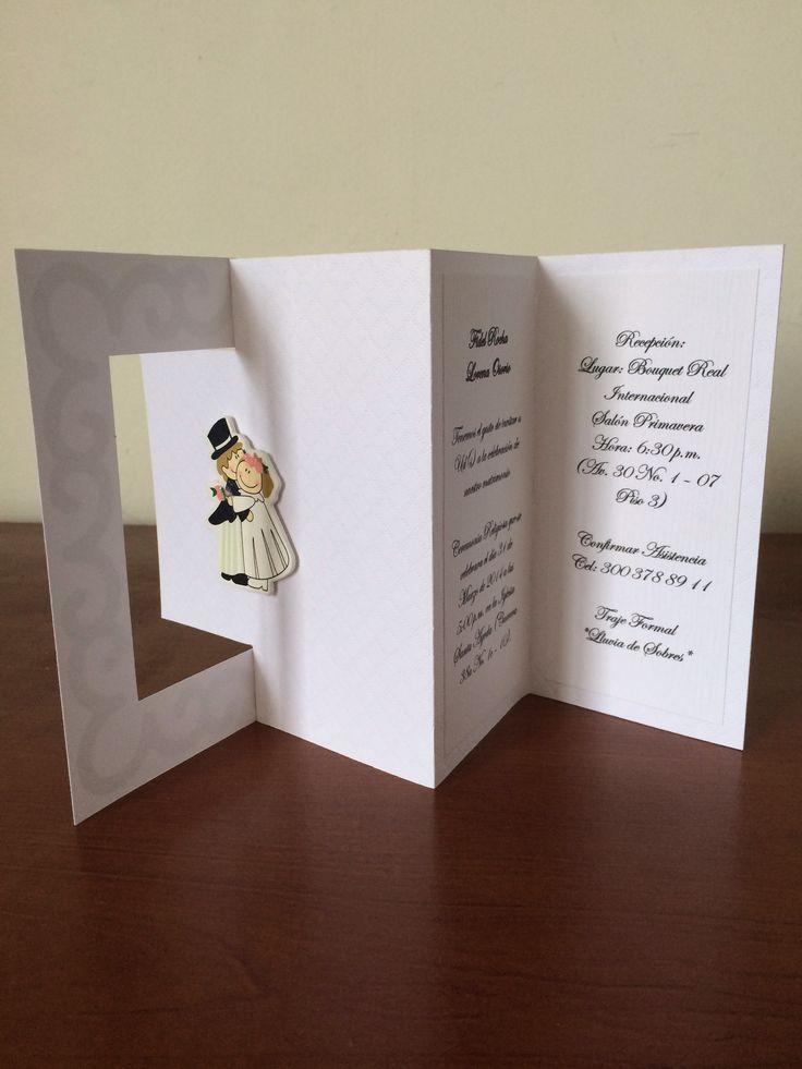 Invitación para matrimonio. Wedding. Bride. Groom. Wife. Husband.
