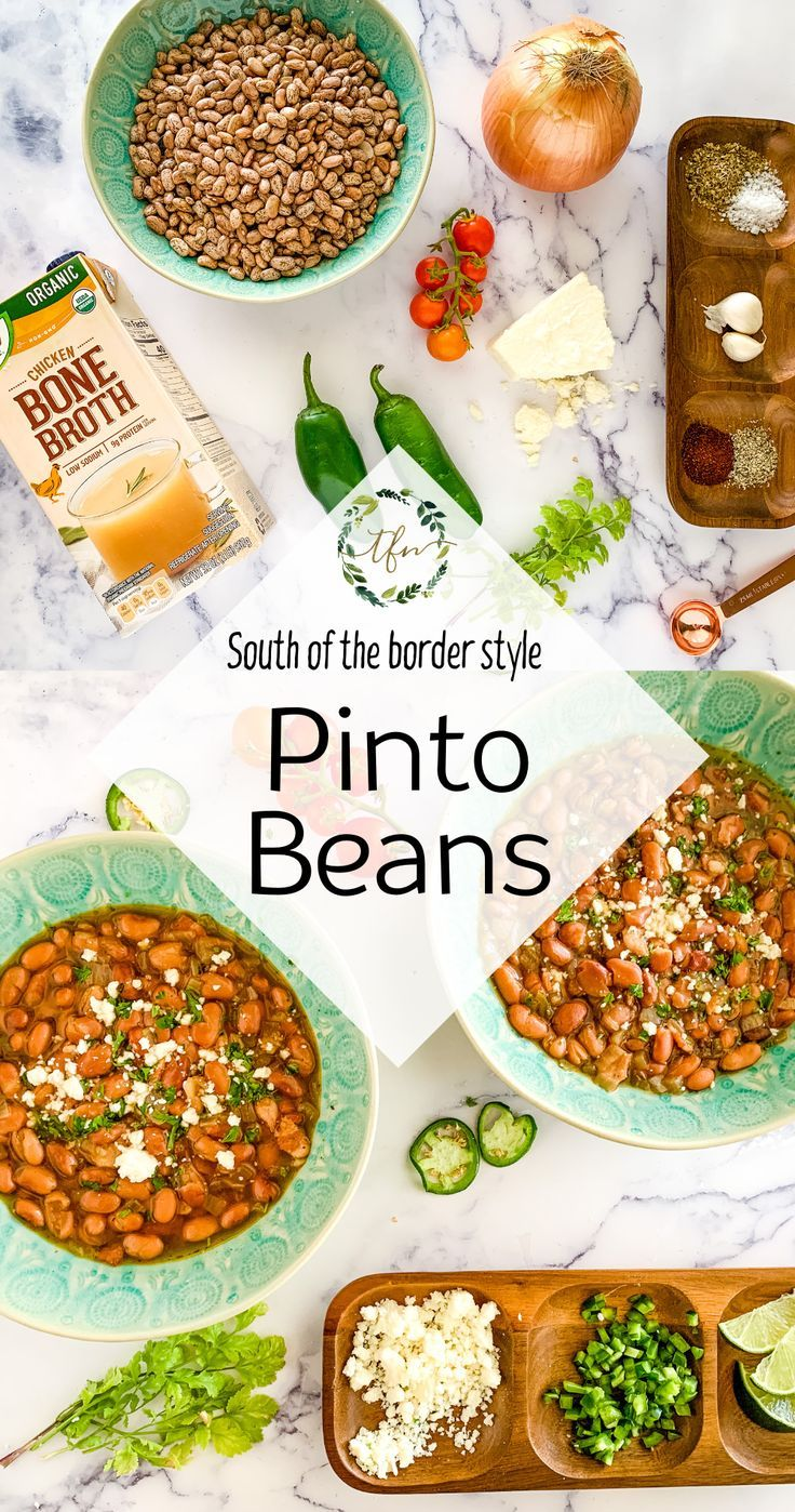 Quick & Easy Pinto Beans are minutes away. You don't even need to soak the beans! Everything goes into the pot and the b…