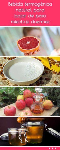 Bebida termogénica natural para bajar de peso mientras duermes