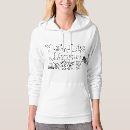 4th Of July Parade Womens Hoodie - independence day 4th of july holiday usa patriot fourth of july