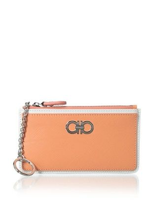 24% OFF Salvatore Ferragamo Women's ID Holder with Key Ring, Pale Rose