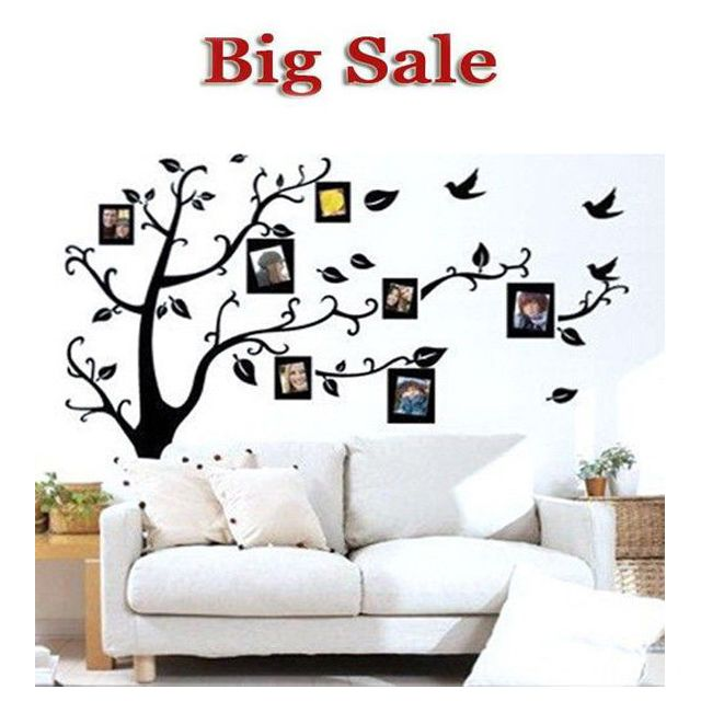 1PC Family Tree Wall Decal Remove Wall Stick Photo Tree Wall Stickers Memory Tree Photo Frame New 2016 Vinyl Wall Decals