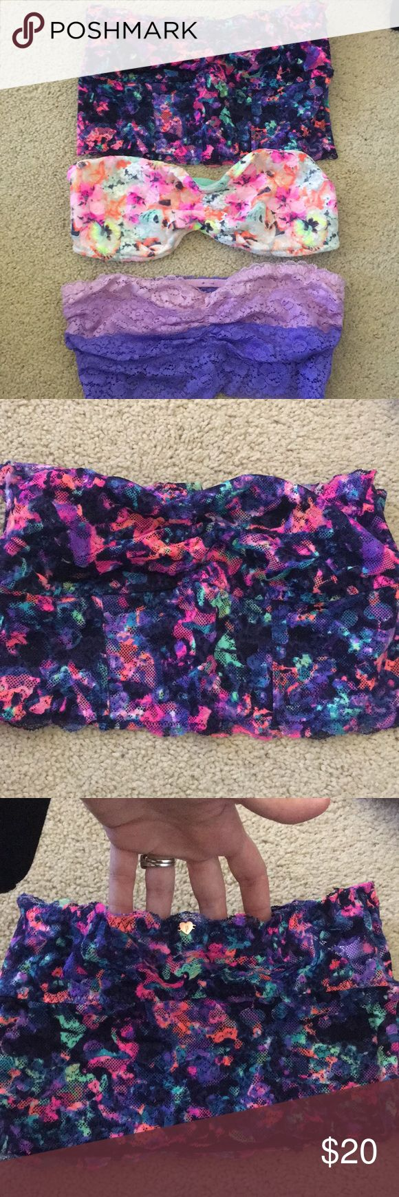 {Victoria's Secret PINK} BUNDLE OF 2 brallettes Pre owned in excellent condition. Barely used. Two bralletes from VS PINK. (Bottom 2) All  are size Small. PINK Victoria's Secret Intimates & Sleepwear Bandeaus