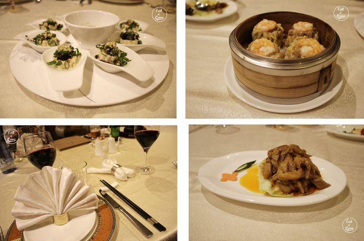 Huevo de cien años, dimsum de gambas y bambú frito - Restaurante chino El Bund Madrid