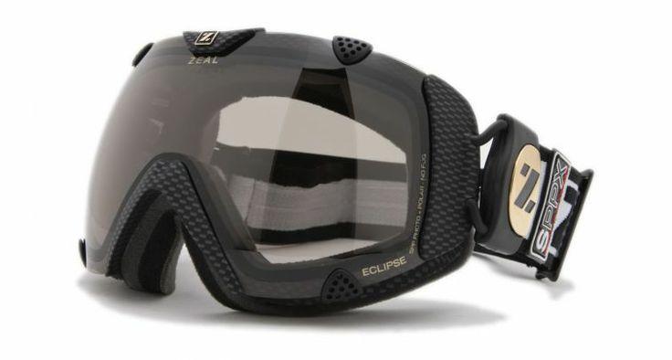 Zeal Optics Classic Eclipse Ski Goggles, Carbon Matte Black Frame and Polarized Automatic Optimum Lens ES2SPP