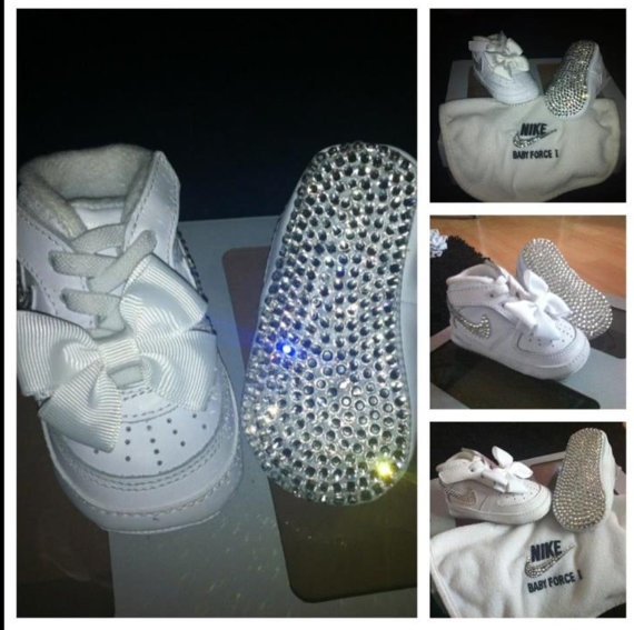 Swarovski Nike Air Force One Baby Box Set on Etsy, $135.87 ...
