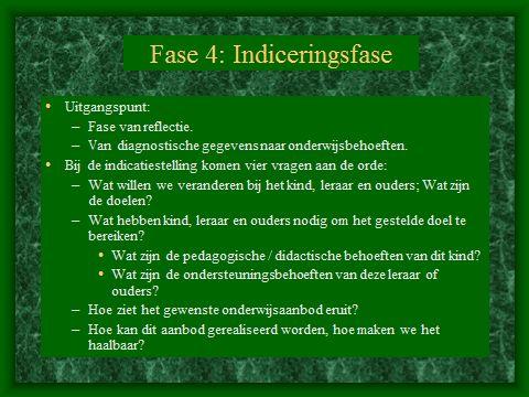 HGW: Fase 4. De indiceringsfase