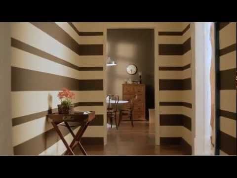 Cómo pintar una pared con rayas horizontales. - YouTube