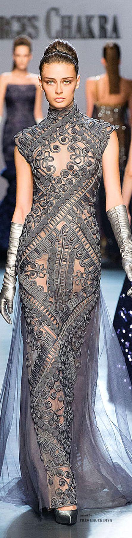 Georges Chakra Couture F/W 2014-15 http://www.pinterest.com/trishahoque/divine-dresses-haute-cotoure/