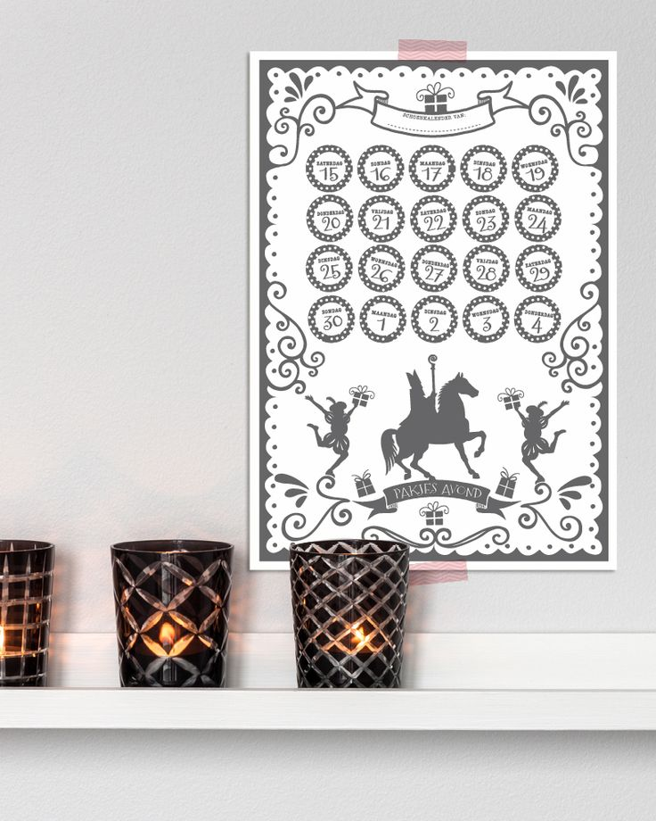 Omdat het allemaal al spannend genoeg is kan deze superleuke aftelkalender helpen de toestand iets overzichtelijker te maken bij jou thuis.