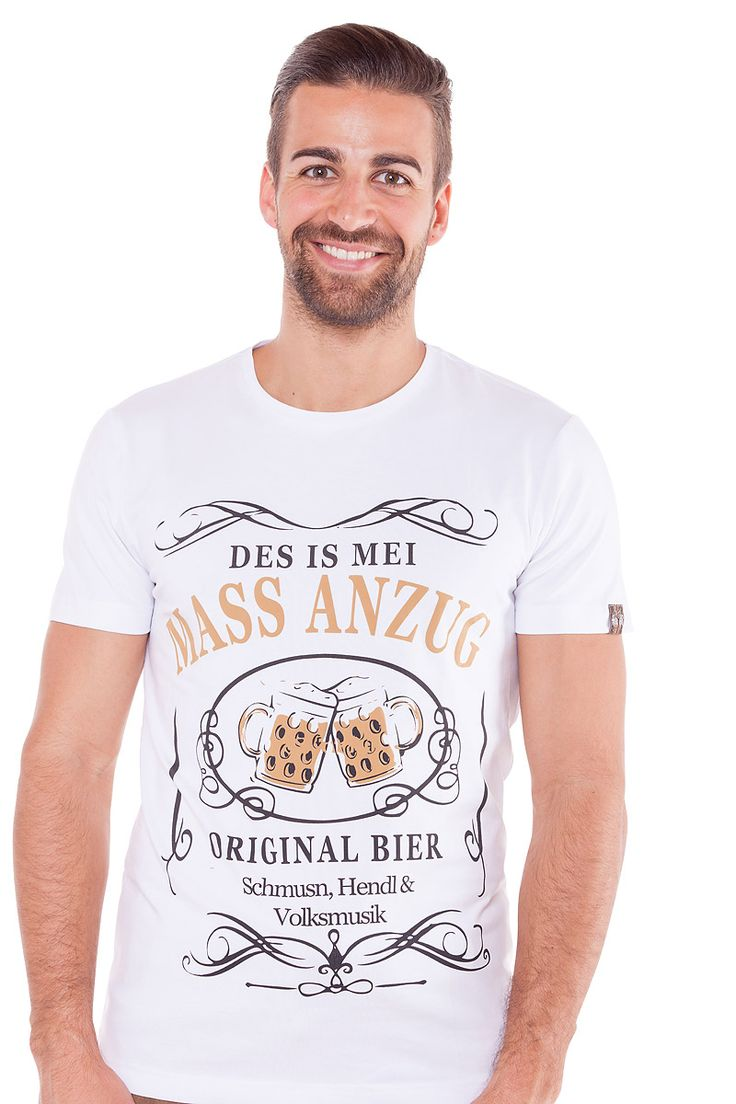 Trachten-Shirt weiß Clemens
