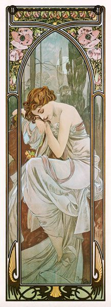 Alphonse Mucha :: Times of day ~ Night's Rest