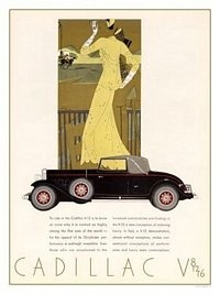 AP2198 - Cadillac, Art Deco Car Advert, 1930s (30x40cm Art Print)