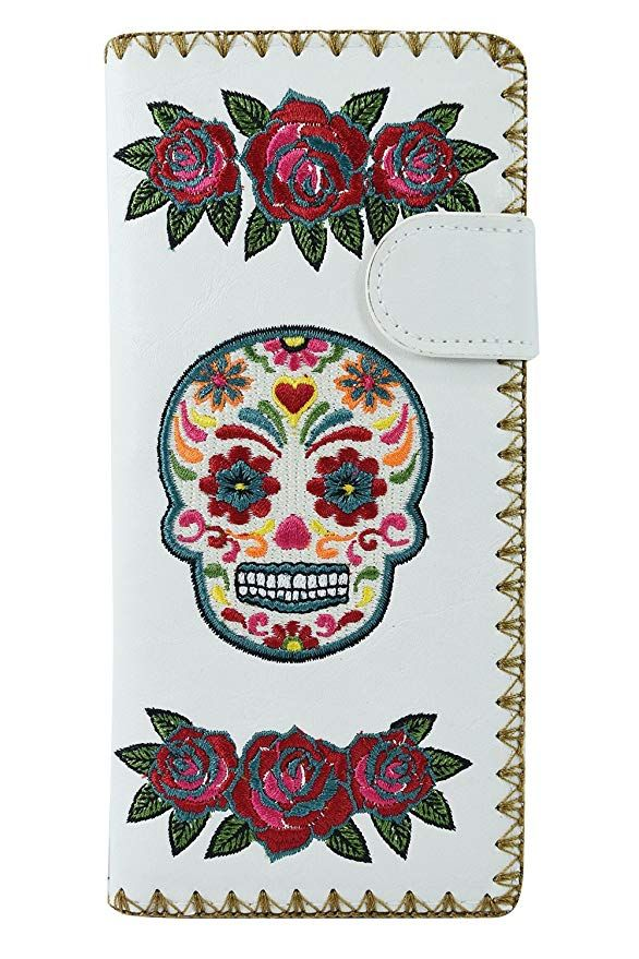 3d52783dcf49 Lavishy Rockabilly Rose & Sugar Skull Day of the Dead Embroidered ...