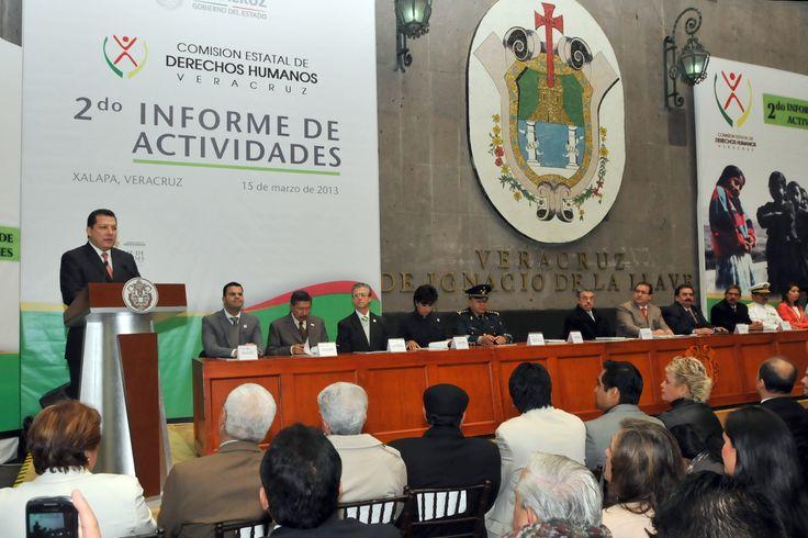 El presidente de la Comisión Nacional de Derechos Humanos, Raúl Plascencia Villanueva, reconoció al gobernador Javier Duarte de Ochoa por su trabajo en materia de defensa y protección de los derechos fundamentales.