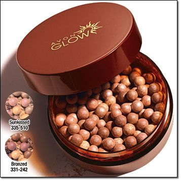 Avon Glow Bronzing Pearls .78 oz. total net wt. Price: $9.00 each BUY ONE, GET ONE FOR $5.00 Mix or Match of equal or lesser value, pages 50-57   buildable bronze • Sun-free instant glow • Blends perfectly