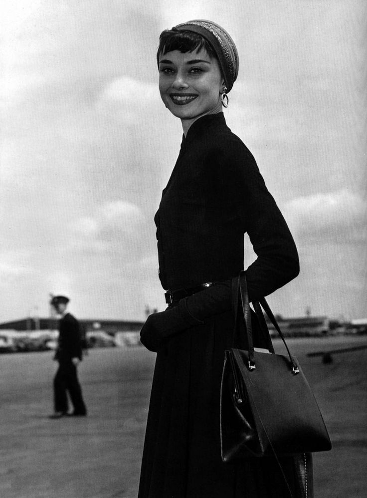 Audrey Hepburn 1953 - Arriving back in London following an American stage tour.