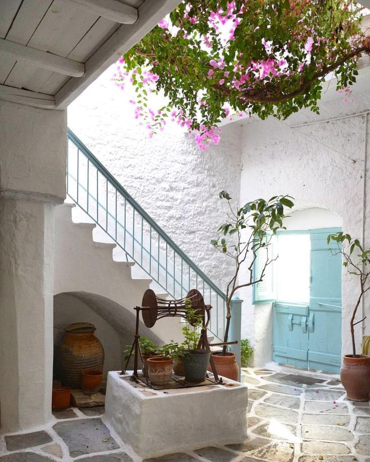 Naxos island (Νάξος). Unique Cycladic beauty , like a cart postal !