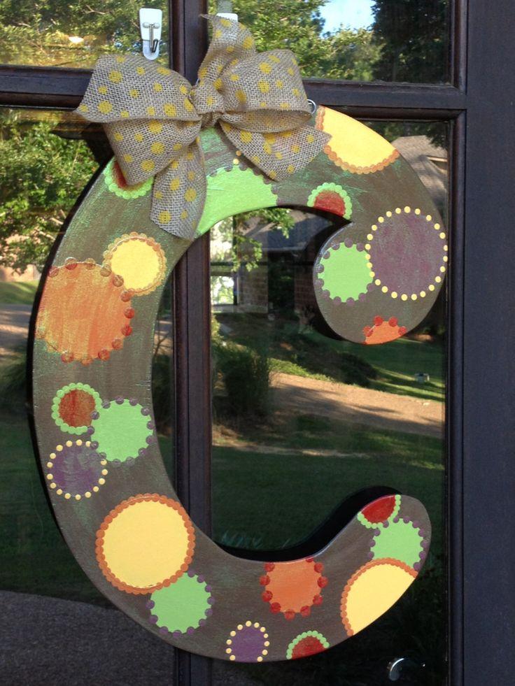 36 Best Door Hangers Letters Images On Pinterest Letter Door