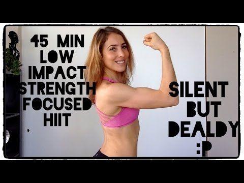 Killer Low Impact SILENT HIIT | 45 min - YouTube