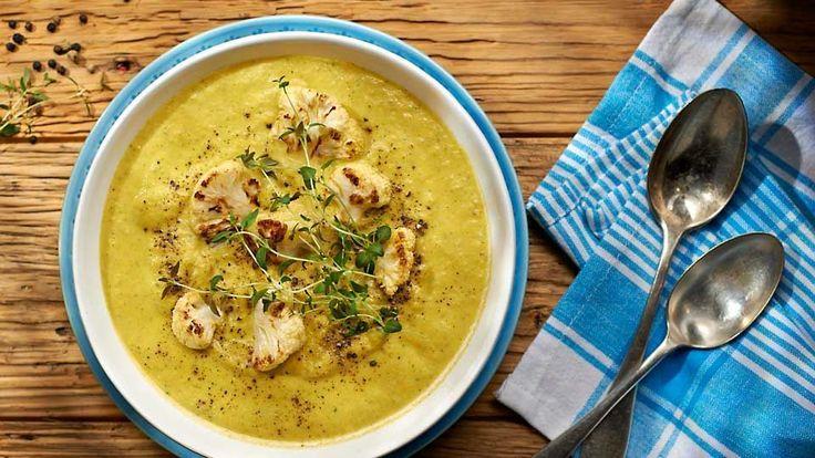 Krémová polévka z rukoly a květáku