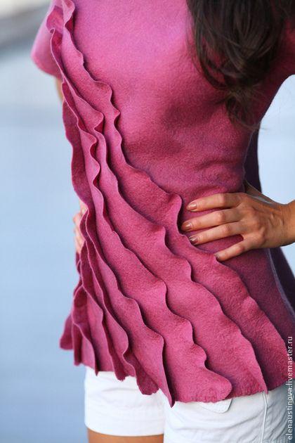 """Кофты и свитера ручной работы. Ярмарка Мастеров - ручная работа Блуза валяная """"Сияющая Орхидея"""". Handmade."""