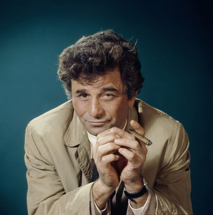 "Actor Peter Falk as 'Columbo' (NBC). American detective mystery series ""Columbo"", premieres on NBC Television, September 15, 1971. The show popularized the inverted detective story format. Almost every episode began by showing the commission of the crime and its perpetrator. The series has no ""whodunit"" element. The plot mainly revolves around how the perpetrator, whose identity is already known to the audience, will finally be caught and exposed."