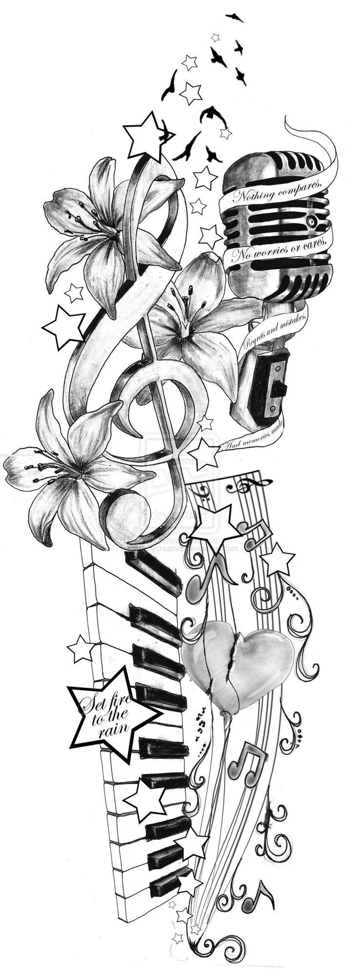 Adele inspirierte Tattoo-Idee von artfullycreative.deviantart.com auf @deviantART #MusicTattooIdeas