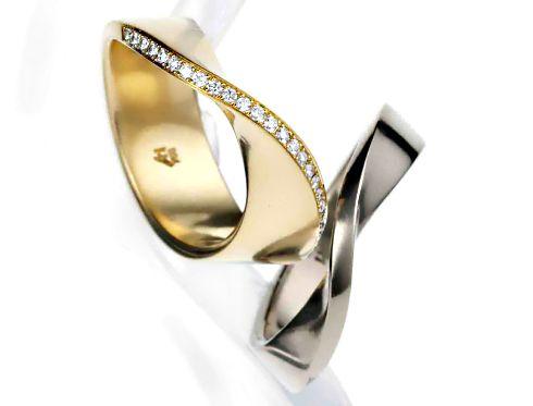 Fresh Individuelle Trauringe Design Angela H bel Gelbgold Wei gold