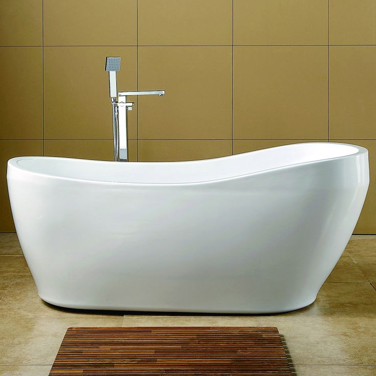 67 giana acrylic slipper tub tubs freestanding tub and for Slipper tub bathroom design