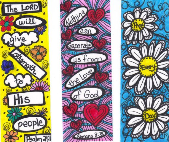 christian bookmarks on etsy | Christian Scripture Bookmark Set of 3 FREE by CeliaCurrinArt