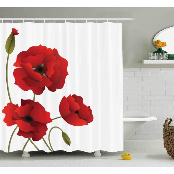 Flowers Petals And Buds Shower Curtain Hooks Floral Shower