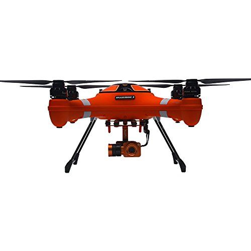 Swellpro Waterproof Splash Drone 3 Auto with 4K HD Camera Live Video and GPS  World's First Modular All Weather Waterproof Drone  Waterproof 4K HD camera with 2 axis gimbal  Durable waterproof frame and motor that can land on the water  All in one remote controller with LCD screen for live video feed  Automatically follow me with dual GPS/GLONASS