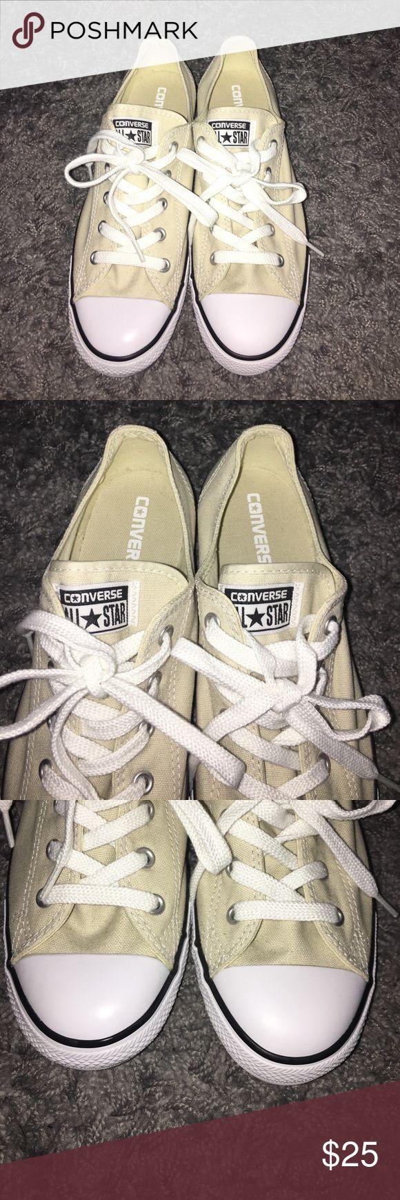 Brand new cream converse!! Brand new never worn cream converse! Size 9 Converse Shoes Sneakers
