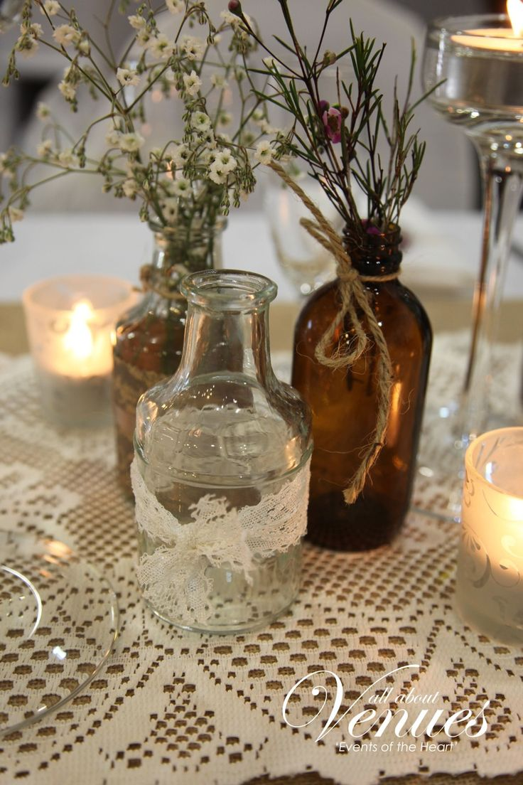 2. A wooden-handled shovel certainly may not seem, at first glance, like wedding décor fodder, but this vignette is completely charming for a rustic wedding.