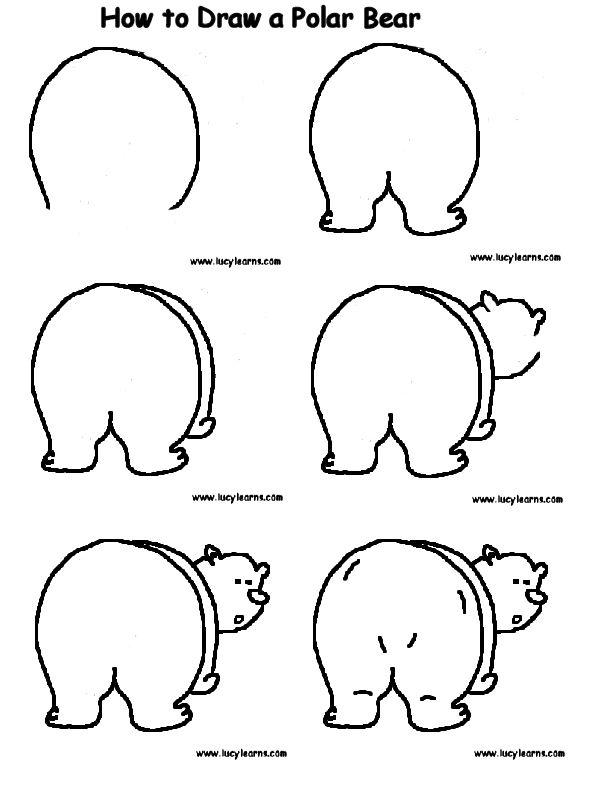 How to draw a polar bear.