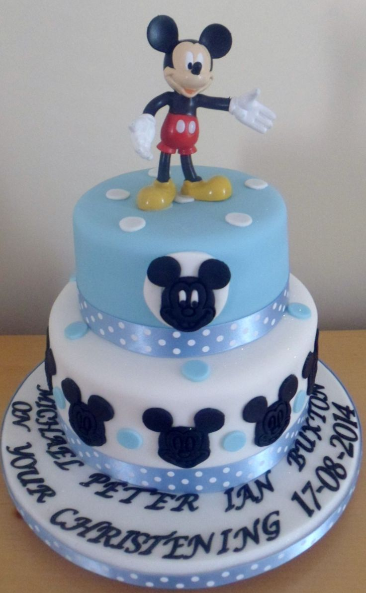 This was a Mickey Mouse themed christening cake but is also ideal for a birthday cake