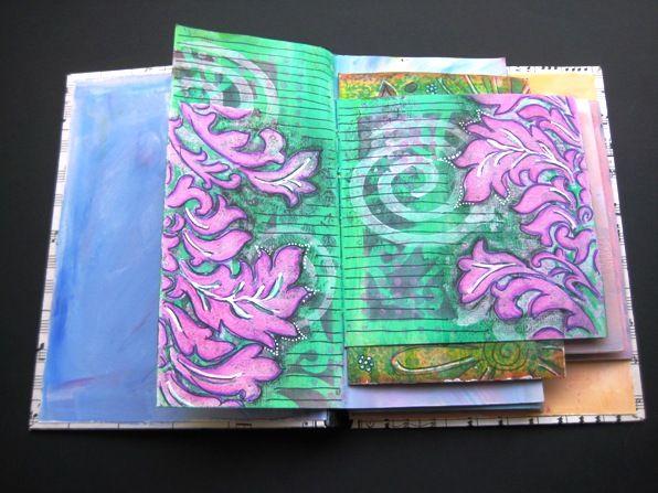 Pagina in 'dagboek van oude wenskaarten' (tutorial)