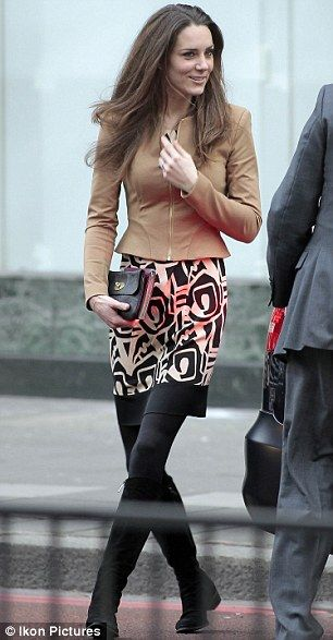 Kate Middleton in  DVF - lunching with Camilla before wedding 2011