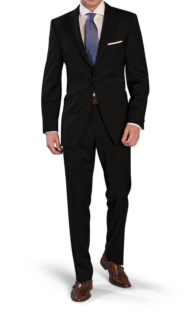 Herren Anzug aus Super 120`S Schurwolle von der Marke Marzotto in 3 Farben (Gr. 44-60, 24-30, 90-114): Amazon.de: Bekleidung