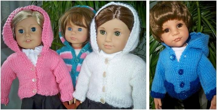 Dainty Knitted Doll Hoodie [FREE Knitting Pattern]