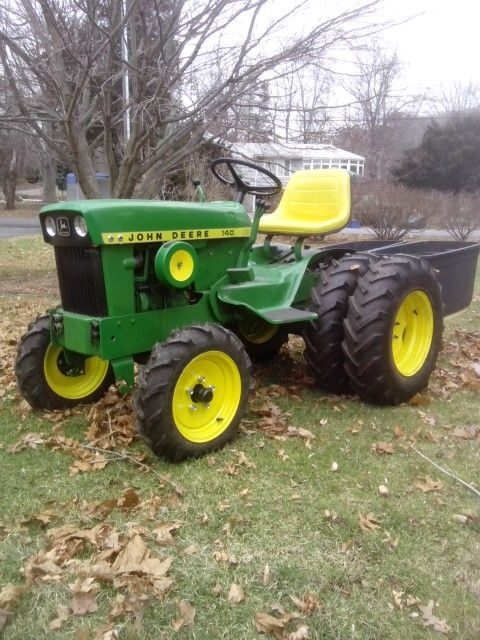 My John Deere 140 after a dual wheel conversion was semi-complete...1969 JD 140-H3 Dual Wheel