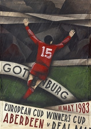 Aberdeen FC  programme cover  commemorating their 1983 European Cup Winners Cup Final victory over Real Madrid in Gothenburg.