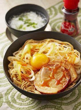 油そば風ピリ辛スタミナ和え麺