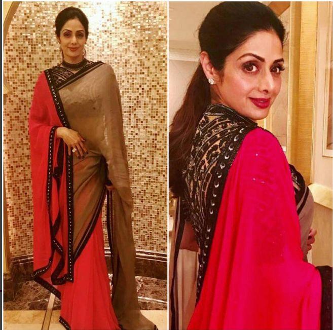 Sri Devi Kapoor In A Beautiful sari